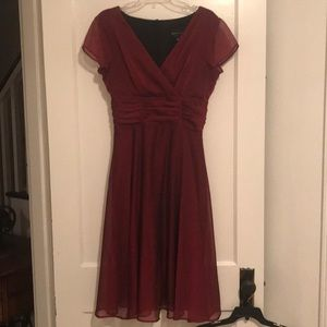 Deep red dress- worn twice! Zip closure.